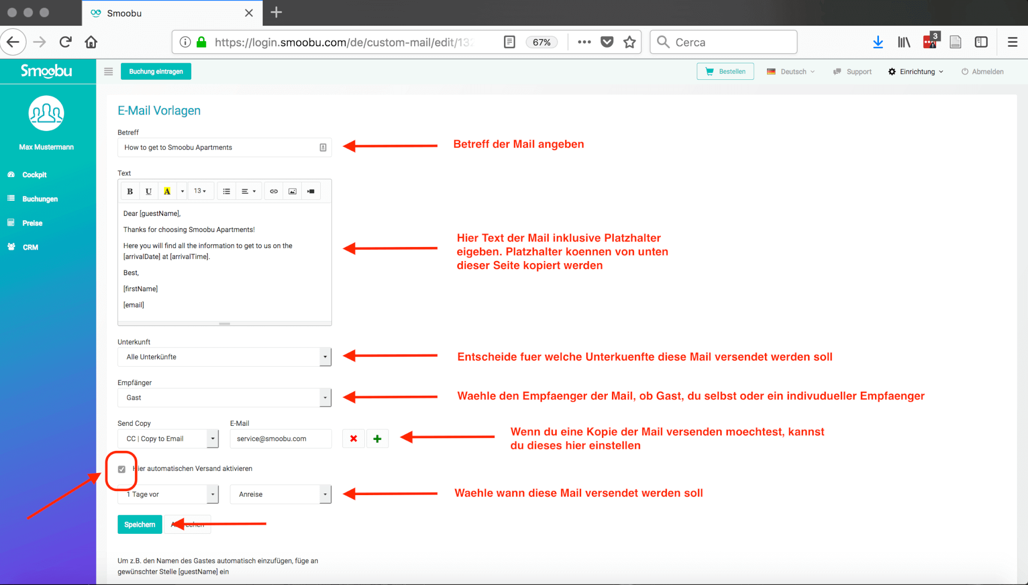 ᐅ USER GUIDE: Mailvorlagen für verschiedene Ereignisse erstellen